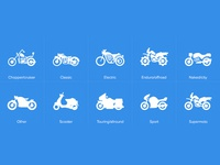 Motorbike icons