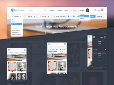 Pinshape redesign