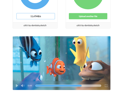 Clean UI Kit ui kit graph user stats upload drag and drop movie player sketch file free freebie weather tabs
