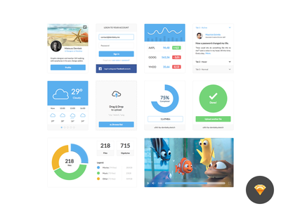 Clean ui kit dribbble