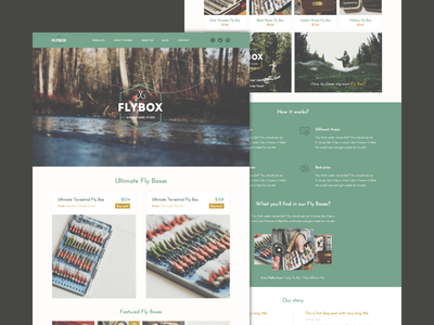 Flybox flybox webdesign ecommerce green hipster look 2014 work