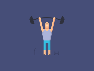 Maintenance Page Illustration fitz fitness fit crossfit gym flat illustration maintenance