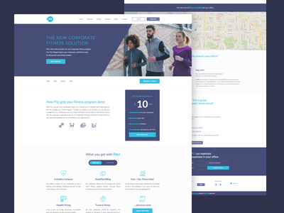 FITZ Website canada startup landing page fitz clear clean ui violet blue flat homepage website