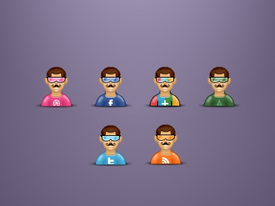Mustached avatars