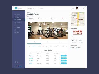 FITZ Studio Profile Dashboard schedule clean flat ui dashboard profile studio fitz