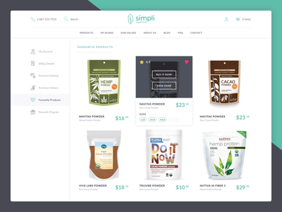 Favourites Products ecommerce products favourites products simpli dashboard clean flat ui