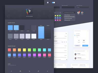 Shift Ui Style Guide app shift app shift ui elements guide style guide ui ui kit