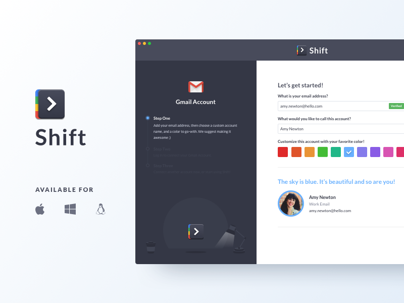 Shift 1.0 redbrick mail product google gmail app ui shift