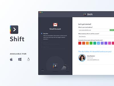 Shift 1.0 redbrick mail product google gmail app ui shift