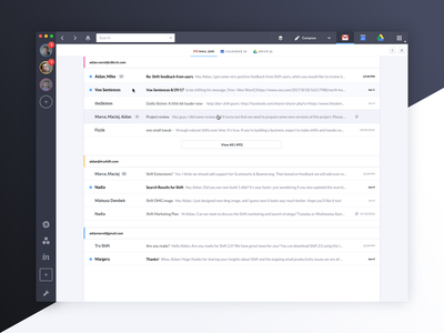 Shift 2.0 Sneak Peek search results mail product google gmail app ui shift