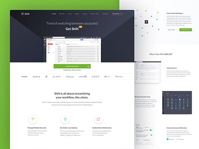 Shift 2.0 Launch 🚀 website landing page mail product app ui shift