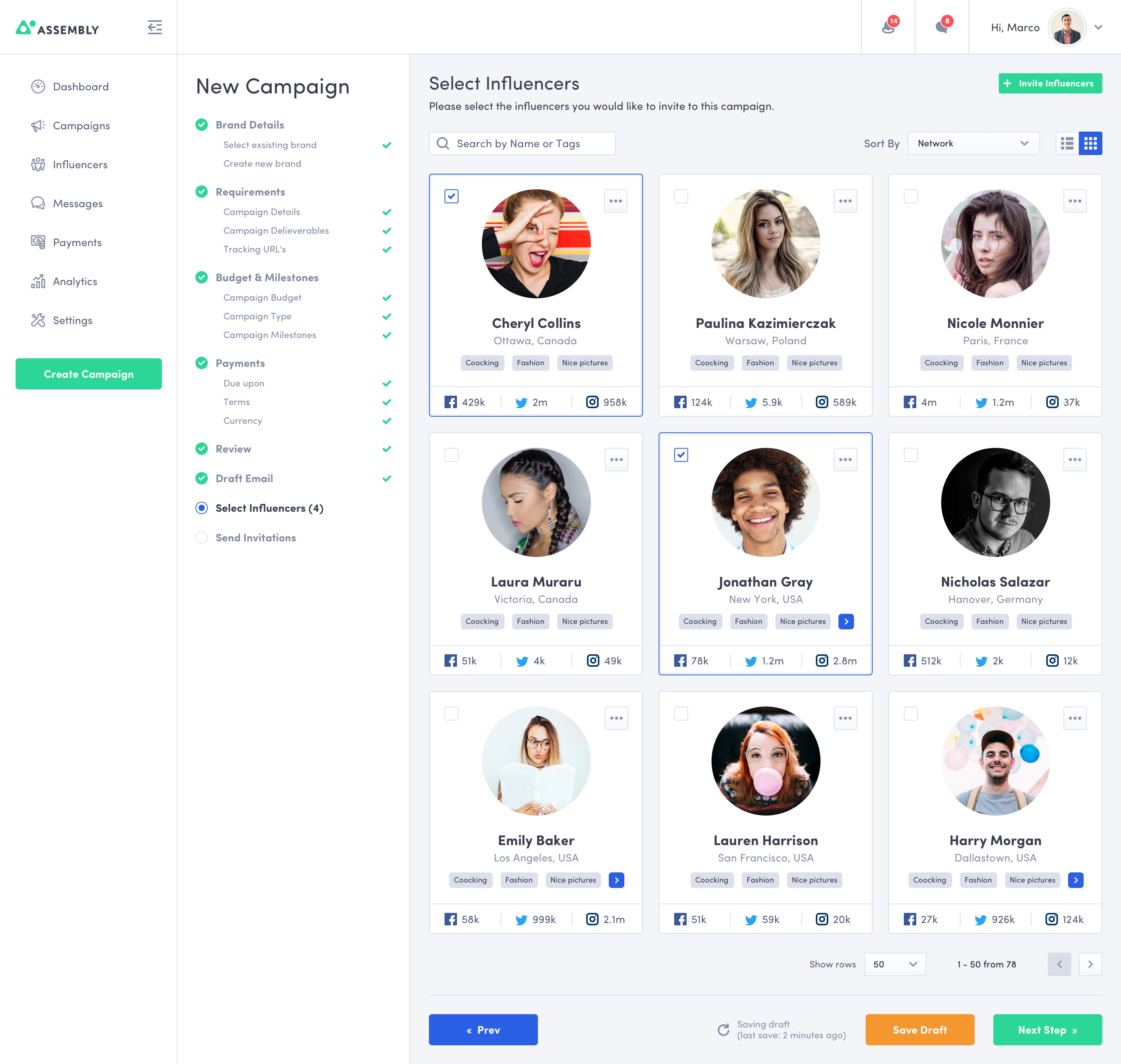 Select influencers  new way  2x