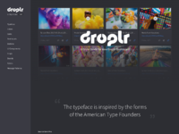 Droplr dark ui style guide  full view