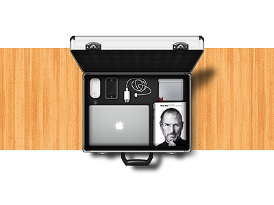 Apple Survival Case progress apple case magic mouse magic mouse iphone 4s iphone 4s mbp macbookpro steve jobs jobs metal wood icon fun illustration steps design process