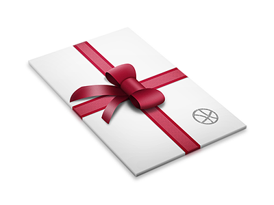 Card with ribbon card ribbon freebie free download psd dribbble