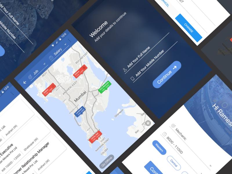 WorkIndia App material ux ui app android