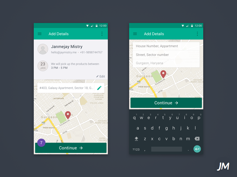 WIP - More coming soon consultancy startup india ux material android app ui