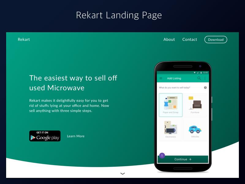 Rekart Landing Page marketing ui web design landing