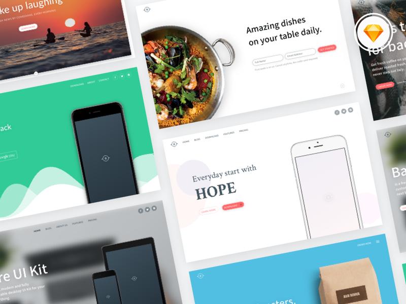 Bare Cover UI Kit – Freebie