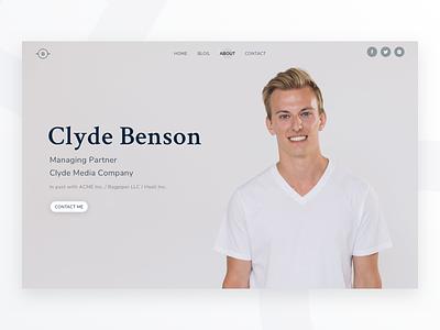 Profile Page - Bare UI Kit personal resume work portfolio contact persona male profile about