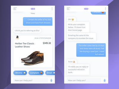 Chat Bot Exploration message chatbot bubble mobile app feedback ai ecommerce shopping bot chat