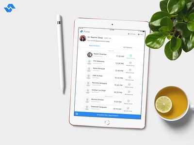 Pulse - Easiest EMR for doctors on earth! feedback logo app ux ios health health app health care apple pencil ipad doctor app doctors