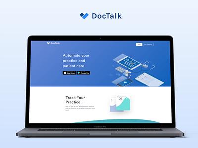 Doctalk Index Page banner website index page health care design ui illustration landing web