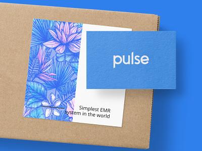 Introducing Pulse card health care icon branding typography logo design health app