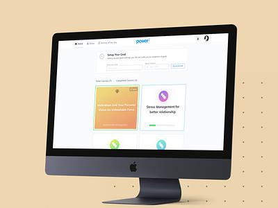 Dashboard - Mental Wellness Platform goal homepage unlocked badge progressbar ux ui web dashboard mentalhealth healthcare health care