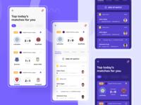 Sport Match App uidesign match sportmatchapp sport dribbble dark theme figmadesign figma app design ux mobile app ui