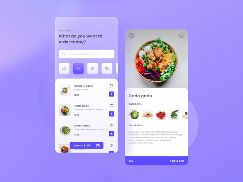 Food Delivery food food app delivery glassy blurry blurred background figmadesign figma design mobile app ux ui