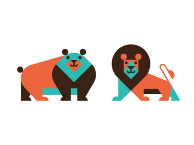 these fellas didnt make the cut bear lion illustration luke bott