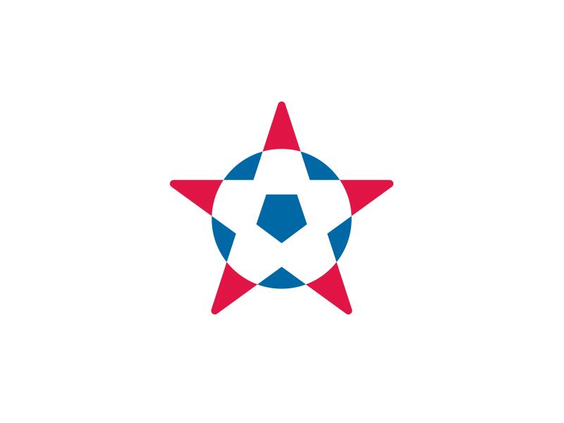 Team USA soccer ball star team usa logo design
