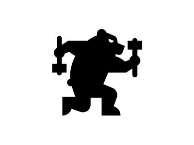 General Beatdown bear hammer badass toy logo icon general beatdown