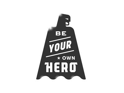 Be Your Own Hero hero cape ninja dojo martial arts fist cowl star lightning