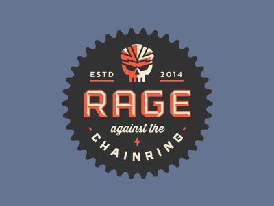 Rage against the Chainring skull glasses bike lightning helmet rage chainring enclosure logo luke bott