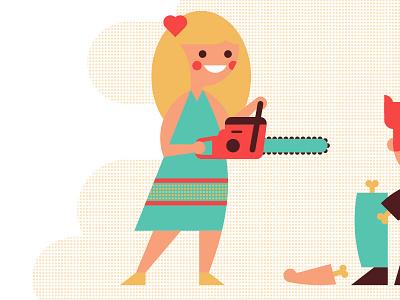Valentine 2015 valentines girl boy chainsaw love pieces heart luke bott