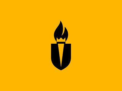 Legacy Of Excellence bott luke design flame torch shield crest crown fire logo
