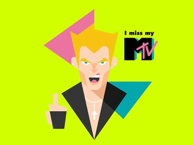 Billy Idol says... 80s bott luke illustration finger mtv idol bill