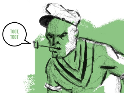 Popeye the Sailor Man bott luke vector brush illustration bluto spinach popeye