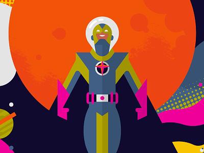 Goofy Galaxy bott luke texture planet illustration space superhero