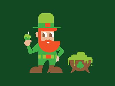 Lenny the Luchador shake pimp hat clover lucky green o pot leprechaun