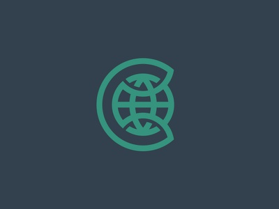 C Globe connect identity logo nation globe c