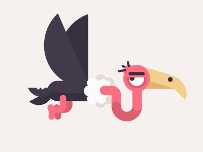MindJet mindjet illustration vulture vector mind map