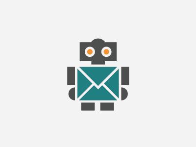 PushBots robot mail envelope logo push notification