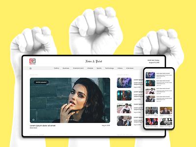 News Website Responsive   Minimal UI UX photoshop minimal news responsive web uiux ui
