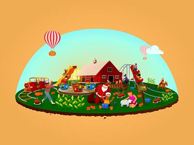 Pumpkin Farm - Theme Park Vector Illustration design branding vector illustrator illustrations