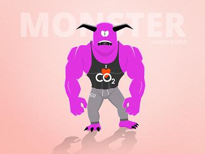 Buffed Up Purple Monster illustration monster vector photoshop illustrator character design