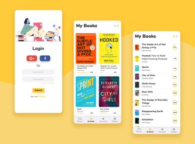 Book Reading App📚 uiuxdesign bookreading app bookapp