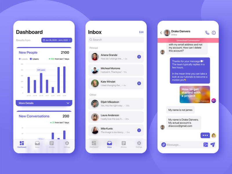 App Ui for a Customer Chat Platform💬 support ui ux designer customer experience app design customer service customer support customer application figma app uiuxdesign
